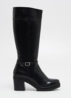 F By Fabrika Kadın Siyah Çizme SAVA